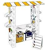 Kartonhaus Spielhaus zum Bemalen Werkstatt oder Verkaufsstand - basteln und spielen - der absolute Indoorspaß (Werkstatt)