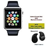 A1 Bluetooth Smart Watch Wrist Watch Phone with Camera & SIM Card Support Hot Fashion New Arrival Best Selling Premium Quality Apps like Facebook, Whatsapp, QQ, WeChat, Twitter, Time Schedule, Read Message or News, Sports, Health, Pedometer, Sede...