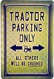 Blechschild 20x30 cm Tractor parking only Schlepper Traktor Deutz Eicher Hanomag Fendt Werkstatt Metall Schild