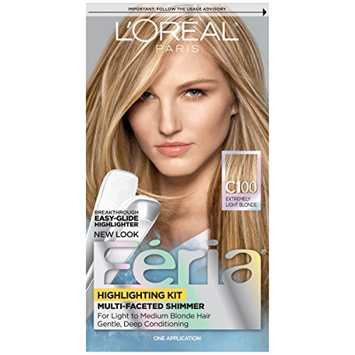 L'Oreal Paris Feria Multi-Faceted Shimmering Highlighting Kit Star Lights/Extremely Light Blonde C100 (Chemische Haarfärbungen; Highlights) -