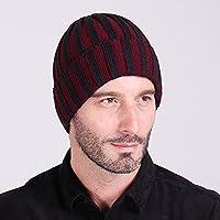 MEICHEN-di due strisce di colore cappello di lana autunno/inverno moda per uomini e donne al di fuori caldo knit hat cappello a forma di anguria ski Hat,viola