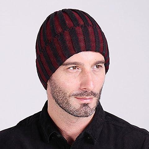 A due colori di lana a strisce hat autunno/inverno moda per uomini e donne al di fuori caldo knit hat cappello a forma di anguria ski Hat,viola