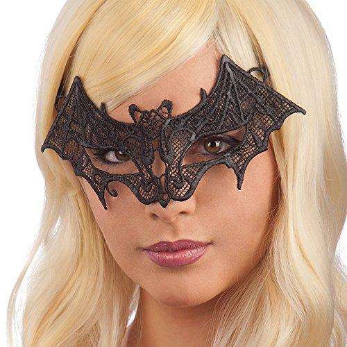 Carnival Toys 01673 - Fledermaus-Maske, schwarz (Fledermaus Brille)