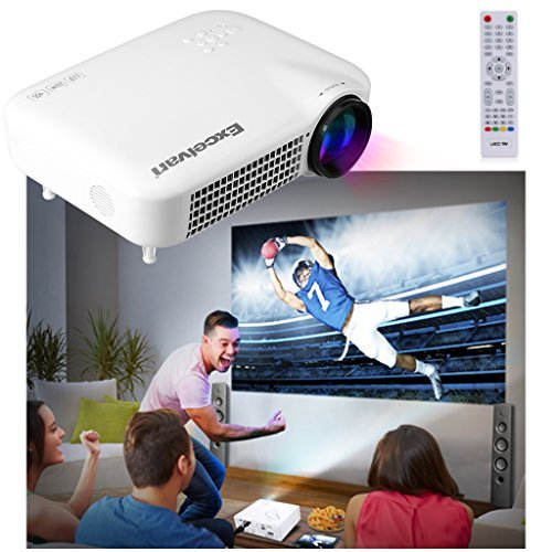 Excelvan 3000 Lumens HD Multimedia LED Projector Support 1080P AV/VGA/HDMI/ATV/USB 1280*800 For Digital Video Games TV Home Movie Theater White for PC DVD TV Box KTV XBOX Camera VCR  available at amazon for Rs.32189