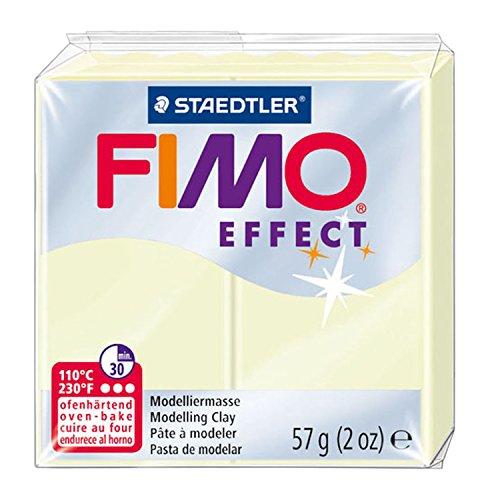 Staedtler 8020-04 - Fimo Effect Normalblock, 57 g, nachtleucht (Jährigen Halloween-spiele 7 8)