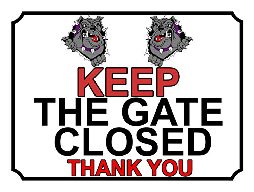 SHAWPRINT), 306h1s, halten Sie das Tor geschlossen Metallschild, Aufschrift Thank You, 150mm x 100mm (Geschlossen Halten Tor Sie)
