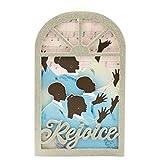 Hallmark afroamerikanische Chor Silhouette Kirche Fenster Ornament aus Mahagoni Line