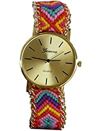 VITREND Geneva Adjustable Thread Strap Watch for Women and Girls