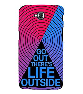 printtech Life Quotes Back Case Cover for LG GPro Lite::LG G Pro Lite Dual D686