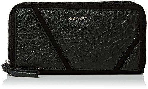 nine-west-womens-underwraps-double-zip-md-wallet-black-black