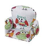 Geuther, Coussin d'assise avec accoudoir pour chaise haute, Tissu, motif: Chouette