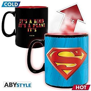 ABYstyle Studio Z886900 DC Comics Thermoeffekt-Tasse Superman, Mehrfarbig, 460 ml