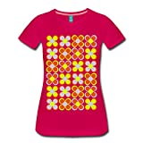 Spreadshirt 70er Jahre Blumen Frauen Premium T-Shirt, S, dunkles Pink