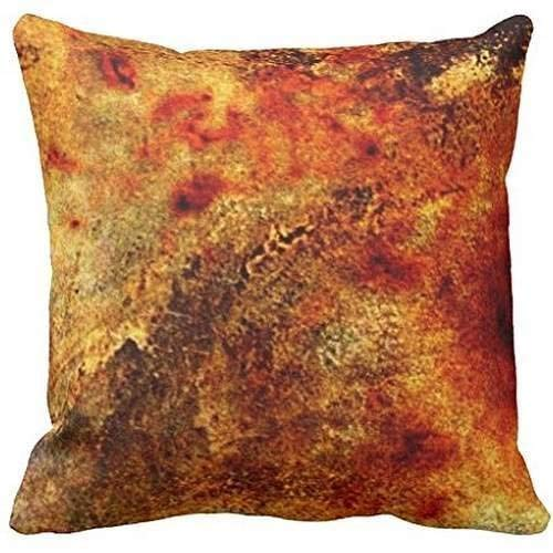 WITHY Burnt Orange Tan Abstract Polyester Throw Pillow Casees,Cover Size:18 x 18 Inch(45cm x 45cm) Ut Burnt Orange