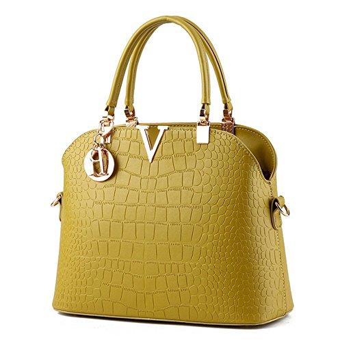 Myleas Donna Borsa a Tracolla Borsetta Shopper Borse con Cinturino Verde
