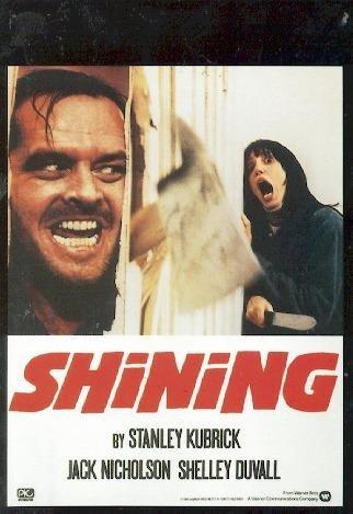 Close Up The Shining Poster Jack Nicholson, Shelley Duvall (68,5cm x 98cm) + 2 St. Schwarze Posterleisten mit Aufhängung