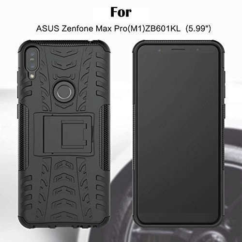 Helix Tough Hybrid Flip Kick Stand Spider Hard Dual Shock Proof Rugged Bumper Dazzle Back Case Cover for Asus Zenfone Max Pro M1