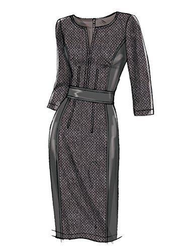 Vogue Mustern Misses Kleid mit Rundum Bund, Mehrfarbig, Größe 6-14 - Bild 5