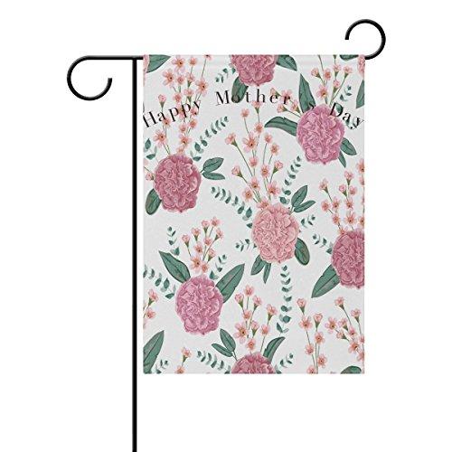 Jkimiiscute Mutter 's Day Garten Flagge Hof Dekoration, Retro Carnation Lily frower mit Vase für Mom Festival einseitig Decor Home House Flaggen, Multi 4, 27 x 37 Inch (Halloween-ideen 4 Familie Mit)