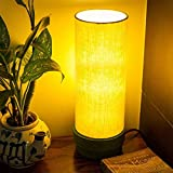 ExclusiveLane 14 Inch Wooden Table Lamp in Green - Table Lamps for Home Decor Bedroom Living Room Home Decoration Bedside Night Lamps for Study