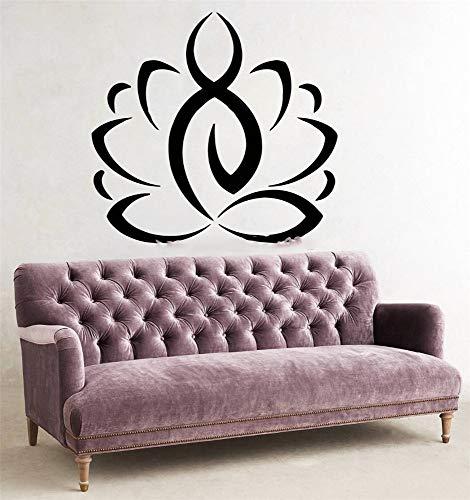 adesivo da parete adesivo muro religione sport yoga lotus flower palestra murales art room sticker decorazione della casa per soggiorno sala yoga