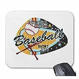 Reifen-Markt Mousepad (Mauspad) JUNIOR Hight Baseball Club Baseball BASEBALLSCHLÄGER BASEBALLSPIELER Baseballshirt Baseball Team für ihren Laptop, Notebook oder Internet PC (mit Windows Linux usw.) i