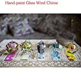 5-Tlg Set Japan, Wind Chimes Windspiel Glocken, Handgefertigt, Glas, Geburtstagsgeschenk Weihnachtsgeschenk Decors Home Japanische Kirschblüte Klangspiele (Blumen)