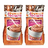 Dunkin' Donuts Bakery Series Cinnamon Coffee Roll Flavoured Ground Coffee - American Imported Roasted Kaffee, 311 Grams (11 Oz.) Per Bag 2-Pack