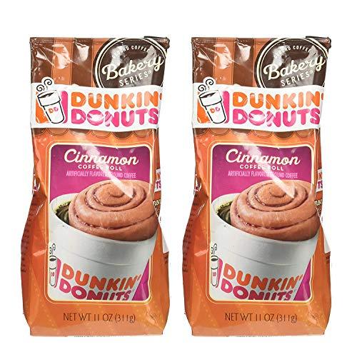 Dunkin' Donuts Bäckerei-Serie Zimtkaffee Rolle aromatisiert gemahlene Kaffee - (Pro Beutel 2...
