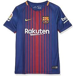 Nike FCB Camiseta 1ª Equipación Temporada 2017-2018, Línea FC Barcelona, talla XL Niños