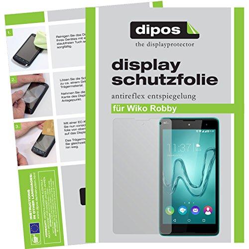 dipos I 2X Schutzfolie matt passend für Wiko Robby Folie Bildschirmschutzfolie