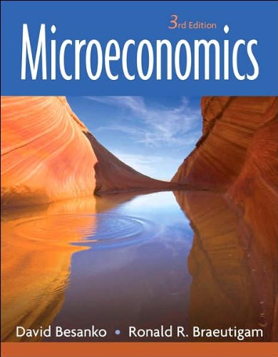 by Ronald Braeutigam,by David Besanko Microeconomics(text only)3rd (Third) edition[Hardcover]2007