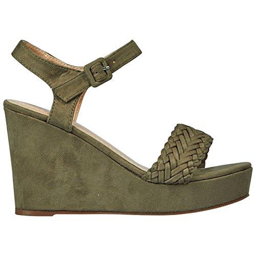 ByPublicDemand Nadine Femme Talons Compensés sandales Vert