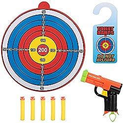 Zerodis Cible Pistolet et Fléchettes Jeux de Tir Enfants Cibles pour Tir Jouet Cadeaux D'Anniversaire