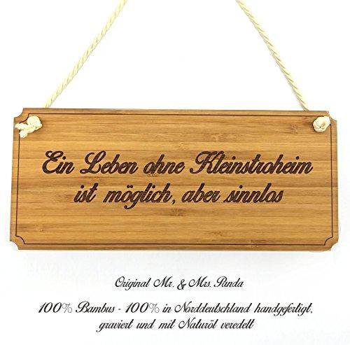 Mr. & Mrs. Panda Türschild Stadt Kleinstroheim Classic Schild - Gravur,Graviert Türschild,Tür Schild,Schild, Fan, Fanartikel, Souvenir, Andenken, Fanclub, Stadt, Mitbringsel