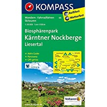 Biosphärenpark Kärntner Nockberge - Liesertal: Wanderkarte mit Aktiv Guide, Panorama, Radwegen und Skitouren. GPS-genau. 1:50000 (KOMPASS-Wanderkarten, Band 66)