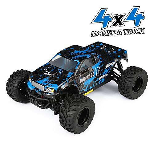 ert Auto 1/18 Skala 4WD Monster Truck 36KM/H Schnelle Geschwindigkeit, Wasserdicht 2,4 GHz RC Geländewagen Elektrisch Fahrzeug RTR Mit 7.4V 650 mAh akku für Kinder und Erwachsene ()
