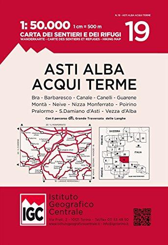 Wanderkarte 19 Asti Alba Aqui 1:50 000