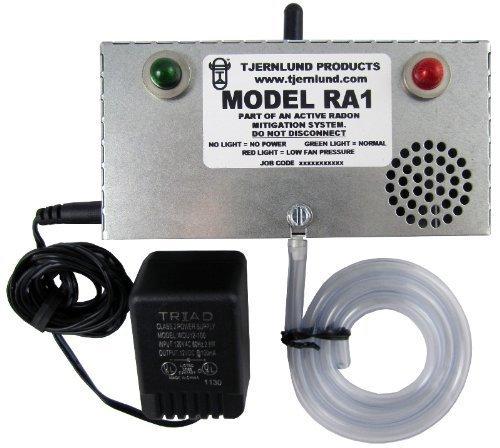 Tjernlund Ra1Radon ventilador fallo alarma seguridad