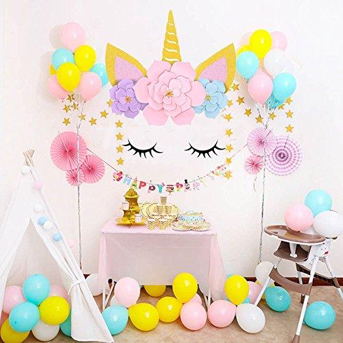 Sayala Einhorn Backdrops/Blume Einhorn Rosa Hintergrund/Unicorn Birthday Party Wand dekoration für...