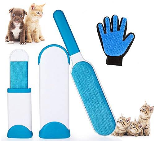 Dee Banna Tragbare Doppelseitige Hund Katze Fell Entferner Haarentferner Pinsel Tier Werkzeug Reise Größe Pinsel für Kleidung, Möbel, Couch, Teppich
