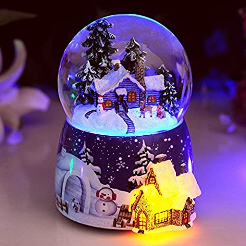 XJoel Exclusive Snow Globe Crystal Ball Creative Desk Ornaments Christmas
