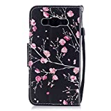 Ukays Cover Compatible with Samsung Galaxy J5 2016, Color Printed Lovely Picture Wallet Leather Case, PU Phone Case with Internal Silicone TPU Cover/Card Slot/Shockproof/Bracket Function - Flowers 2