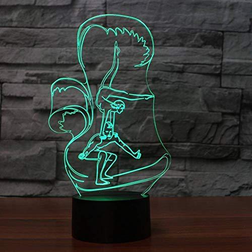 YRANPEA 3D Led Colores Cambiando Danza Rendimiento de Noche Luz Acrobática Modelado Lámpara de Mesa Regalo de la Decoración Casera
