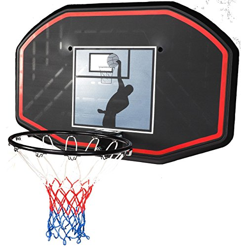 FIRST PRICE-SOPORTE DE PARED 109 X 70 CM  TABLERO DE BALONCESTO TALLA UNICA  COLOR NEGRO