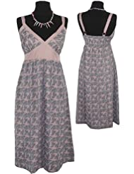 adonia mode Edles Chiffon Sommerkleid Kleid Paisly , Gr.34 - 44