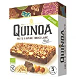 5 x 25grs Barritas Quinoa, Chocolate Negro, Avellanas y almendras. Organico y Sin Gluten