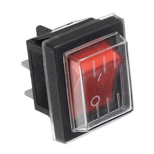 DyNamic 220V16A 20A 125V On/Off Interruptor Rojo De Repuesto Interruptor Impermeable Para...