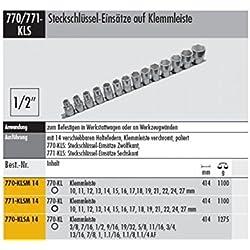 """Steckschlüsseleinsätze auf Klemmleiste - 770-KLSA 14 3/8-1.1/4""""AF 1/2 """" Antrieb"""