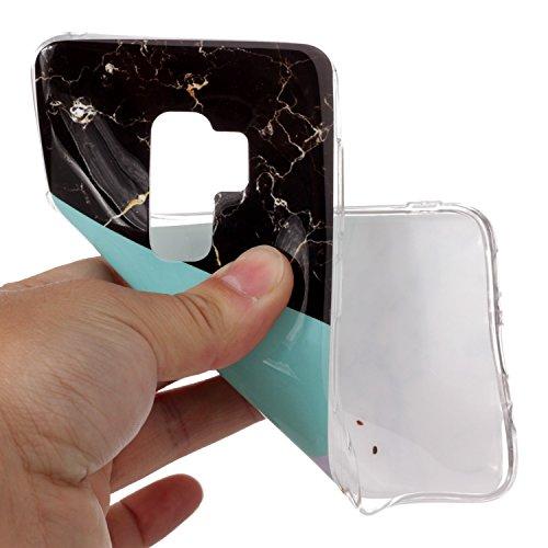 inShang Samsung Galaxy S9+ custodia cover del cellulare, Anti Slip, ultra sottile e leggero, custodia morbido realizzata in materiale del TPU, frosted shell , conveniente cell phone case per Galaxy S9 Blue and white marble